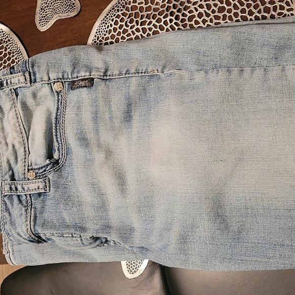 size 16 length 33 silver stretch jeans
